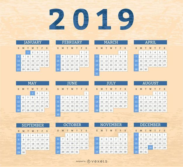 Border boxes 2019 calendar design