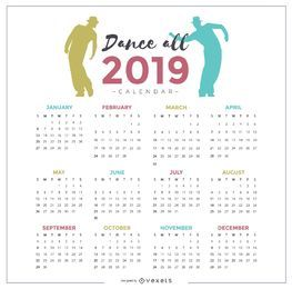 Dance All 2019 Calendar Design