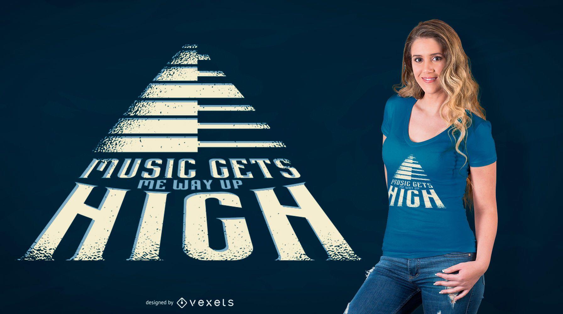 Diseño de camiseta de cita musical