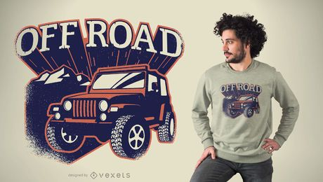 Design de t-shirt fora de estrada
