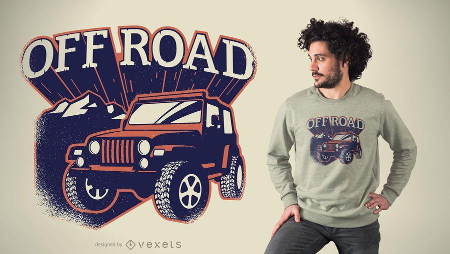 Diseño de camiseta Off Road