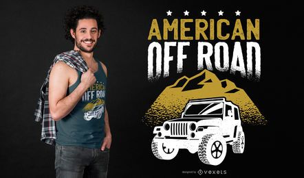 American Off Road T-shirt Design
