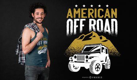 Projeto americano do t-shirt da estrada
