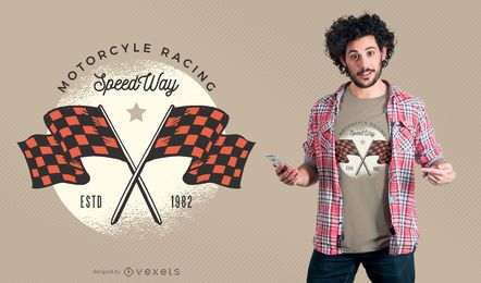 Motorcycle Racing SpeedWay T-shirt Design
