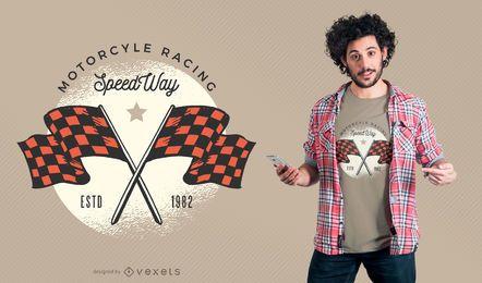 Motorrad Racing SpeedWay T-Shirt Design