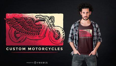 Diseño de camiseta de motocicletas personalizadas