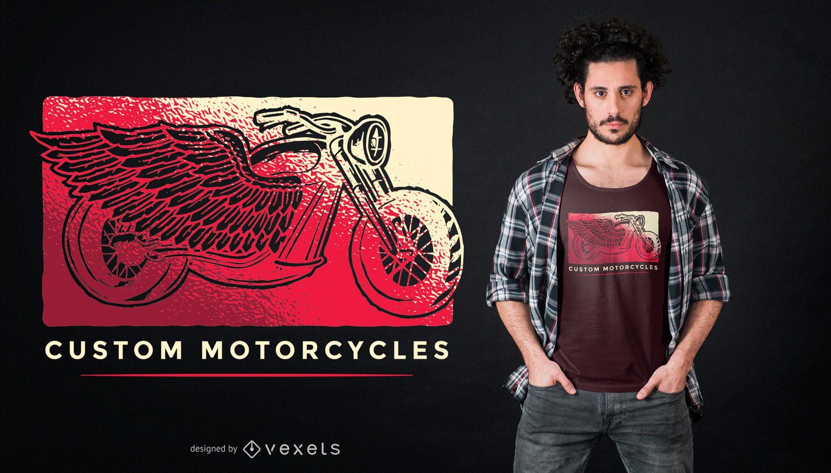 Custom Motorcycles T-shirt Design