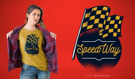 Diseño de camiseta Speed ​​Way