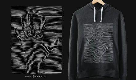 Design de t-shirt de ilusão óptica