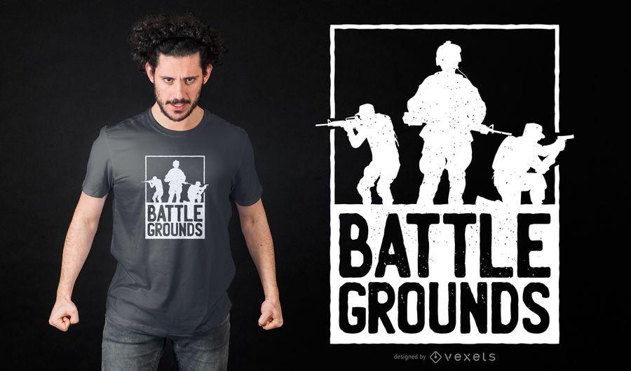 Projeto do t-shirt do exército dos Battlegrounds