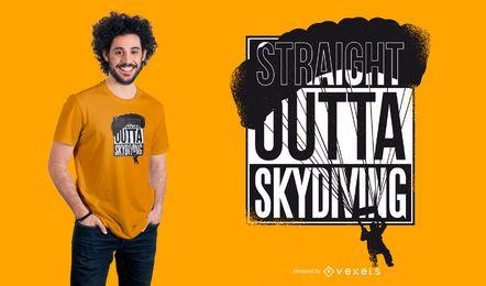 Design de t-shirt em linha reta Outd Skydiving