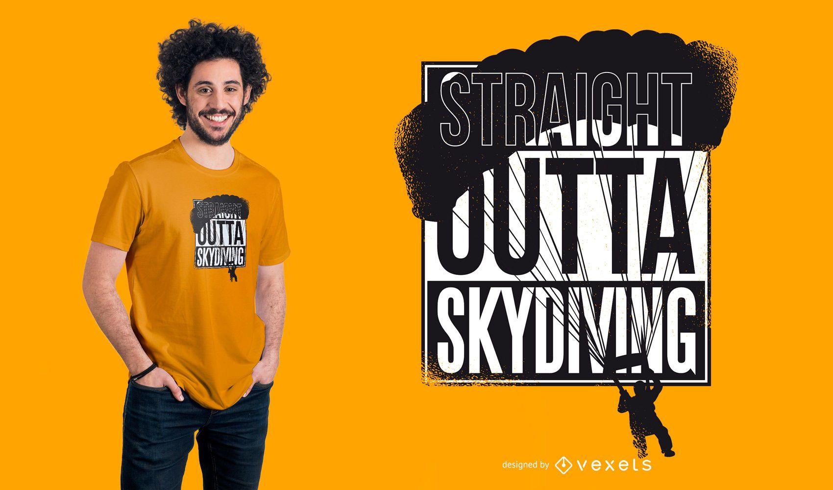 Diseño de camiseta Straight Outta Skydiving