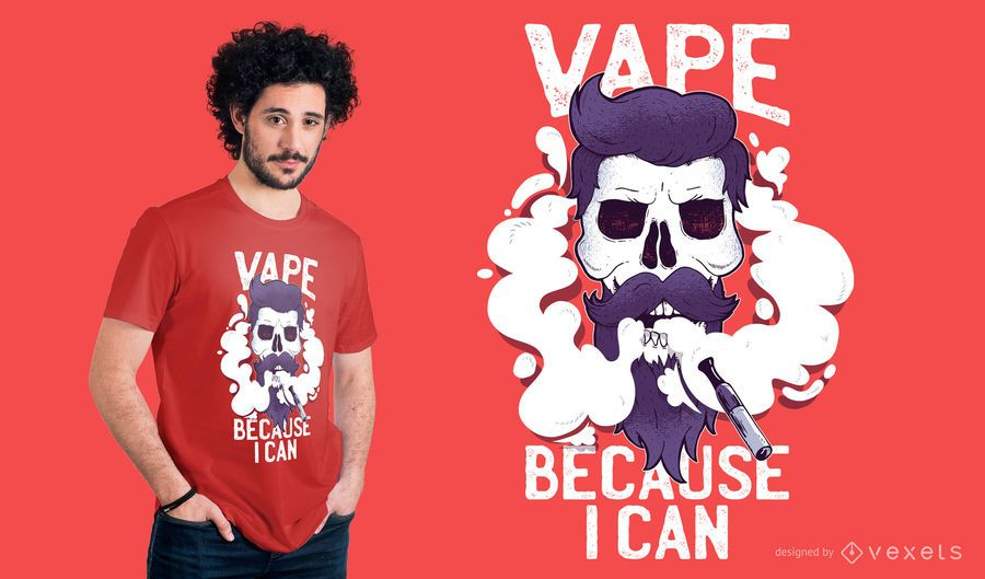 Vape Skull T-shirt Design