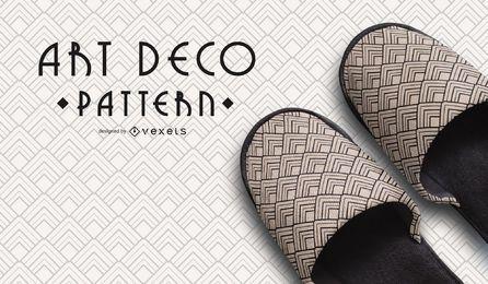 Nahtloses geometrisches Schwarzweiss-Art Deco Pattern