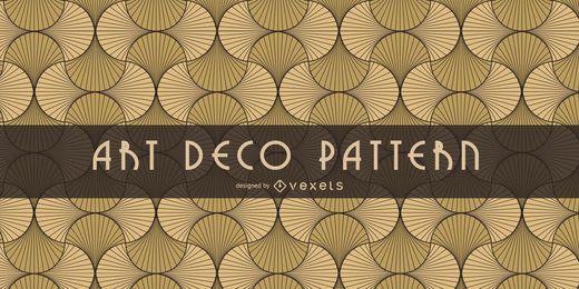 Nahtloses orientalisches Art Deco Muster