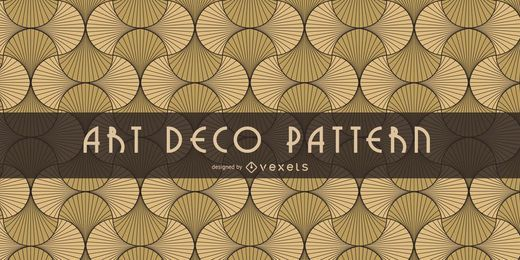 Seamless Oriental Art Deco Pattern