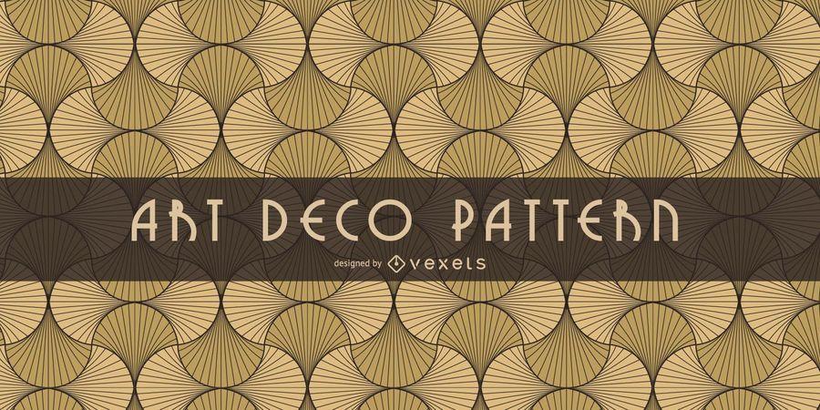 Patrón de Art Deco oriental sin costuras