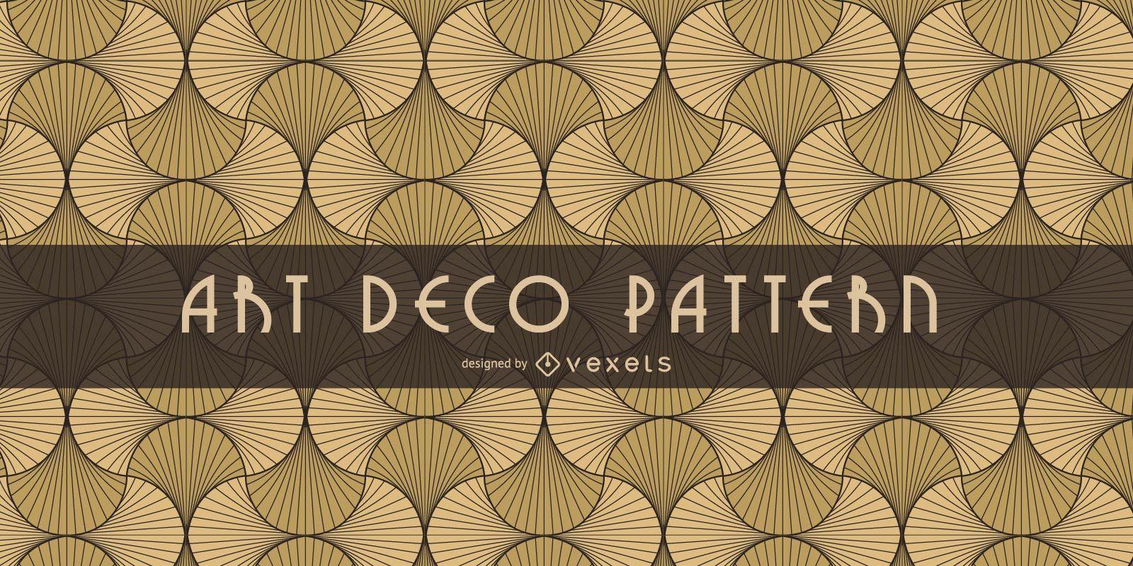 Patrón Art Deco oriental sin costuras