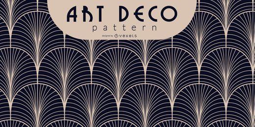 Patrón Art Deco en blanco y negro