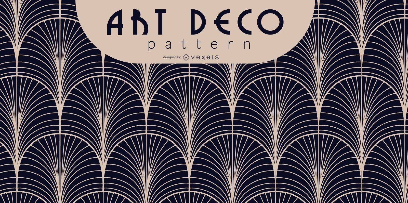 Black and White Art Deco Pattern