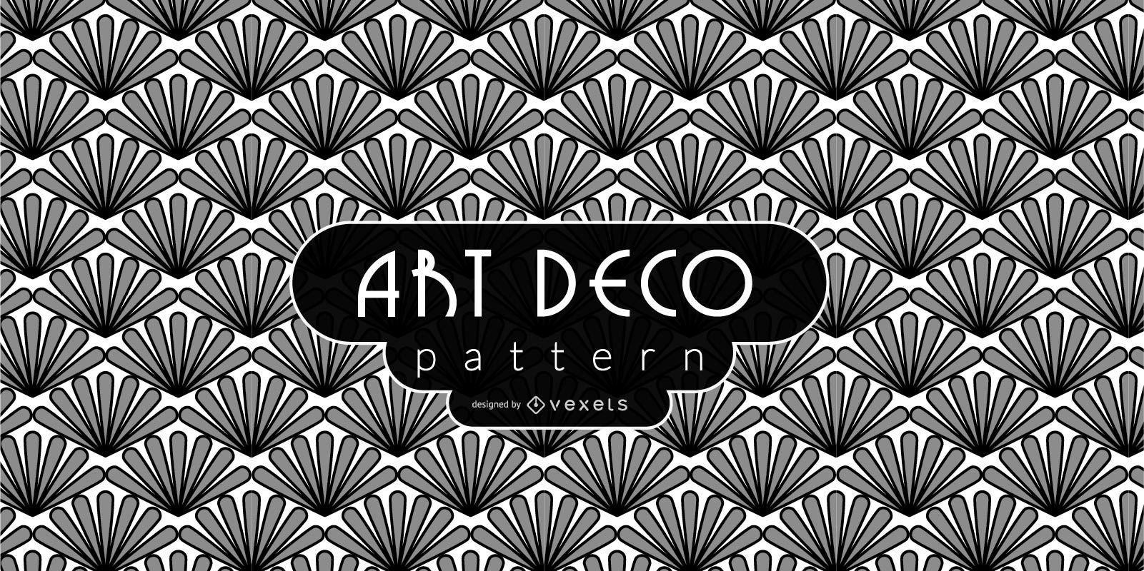 Simple Floral Art Deco Pattern
