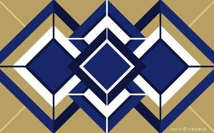 Cubo geométrico Art Deco