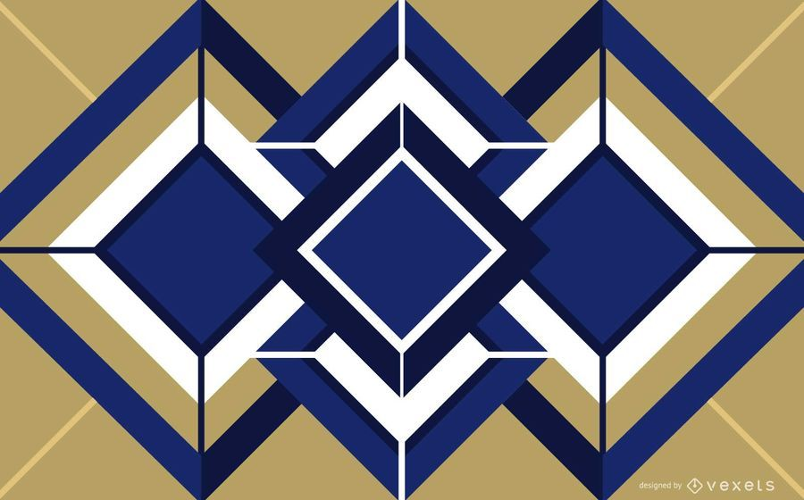 Cubo Geometrico Art Deco