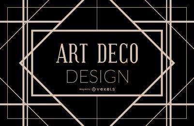 Design de moldura geométrica Art Deco