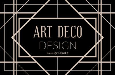 Diseño de marco geométrico Art Deco