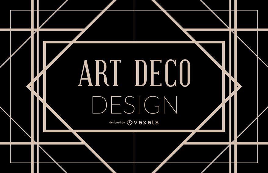 Art Deco diseño de marco geométrico
