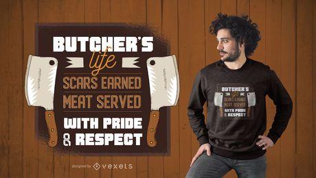 Diseño de la camiseta de la cita del carnicero