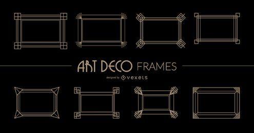 Rechteckige Art Deco-Rahmen
