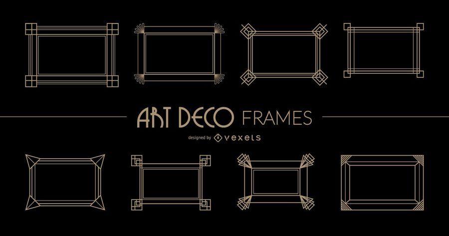 Quadros Art Deco retangulares