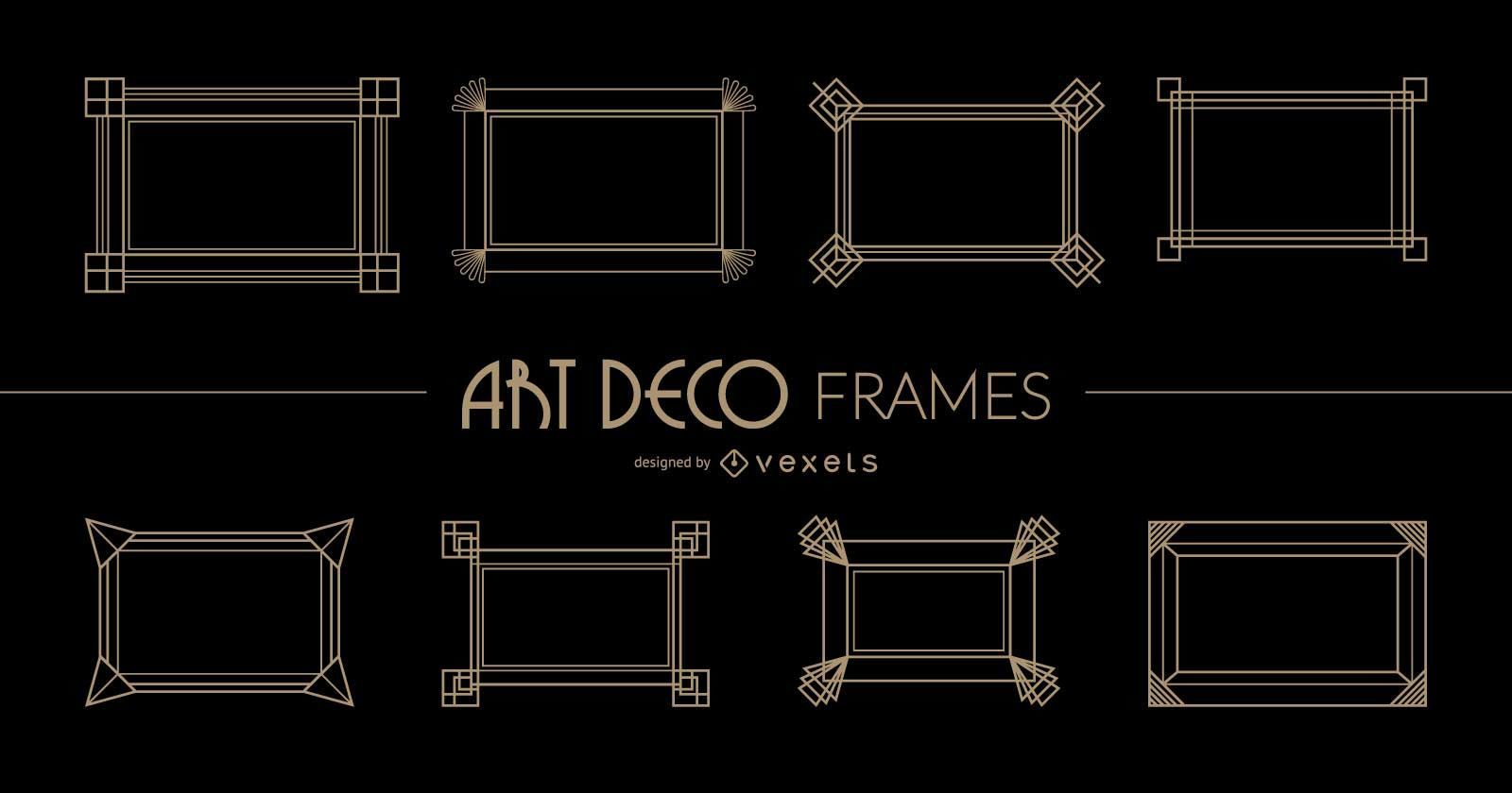Marcos Art Deco rectangulares