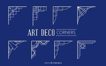Vintage Geometric Art Deco Corners
