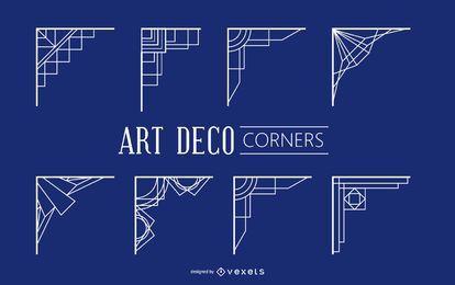 Vintage geometrische Art Deco Ecken