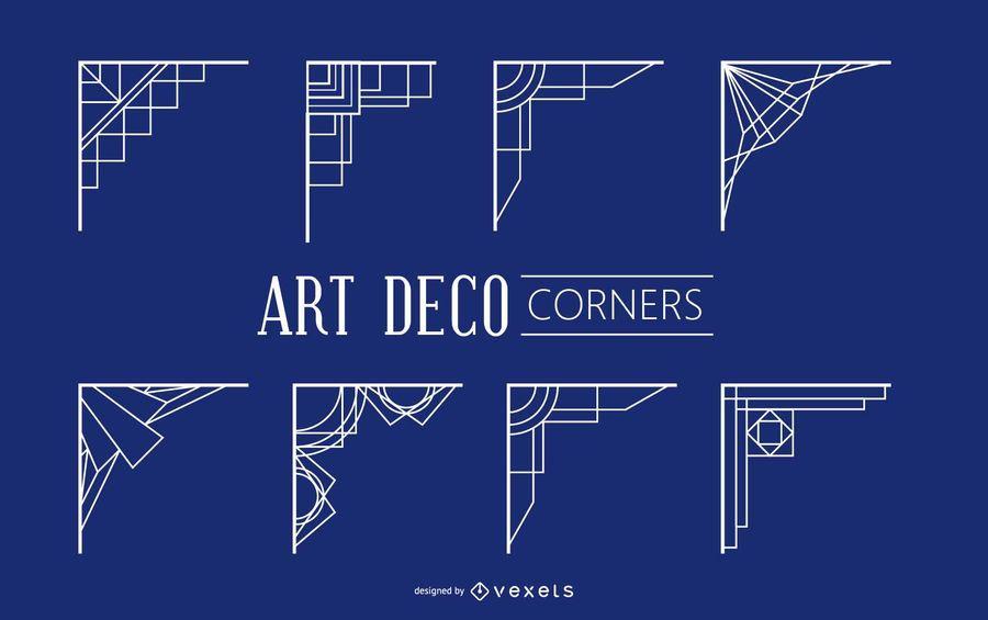 Cantos geométricos do art deco do vintage