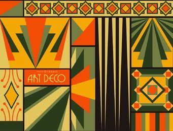 Bunter Art Deco Hintergrund