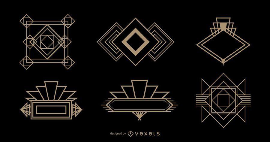 Diamant-Logo-Art-Deco-Set
