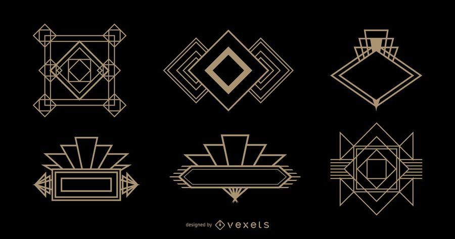 Diamond Logo Art Deco Set