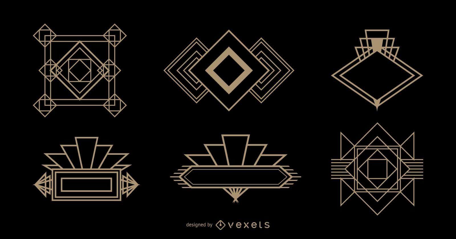 Diamond Logo Art Deco Set