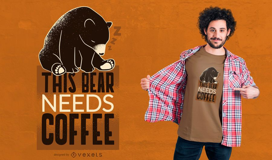 Kaffeebär T-Shirt Design