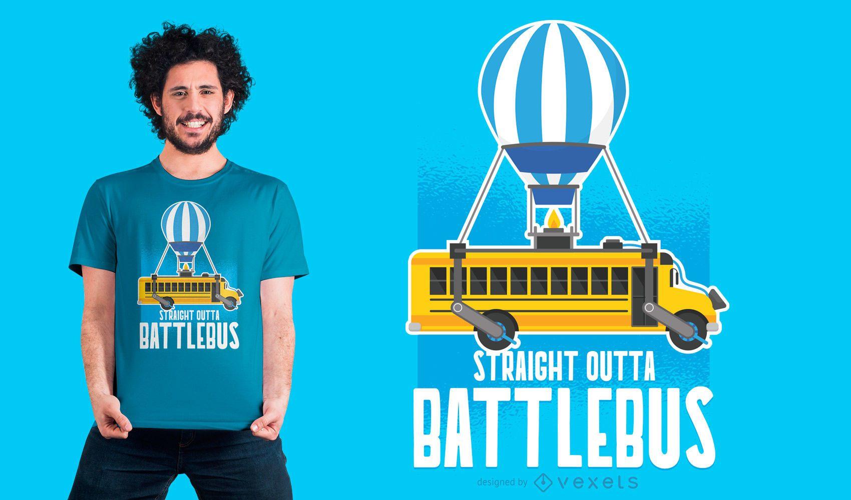 Straight Outta Battlebus Parody T-shirt Design