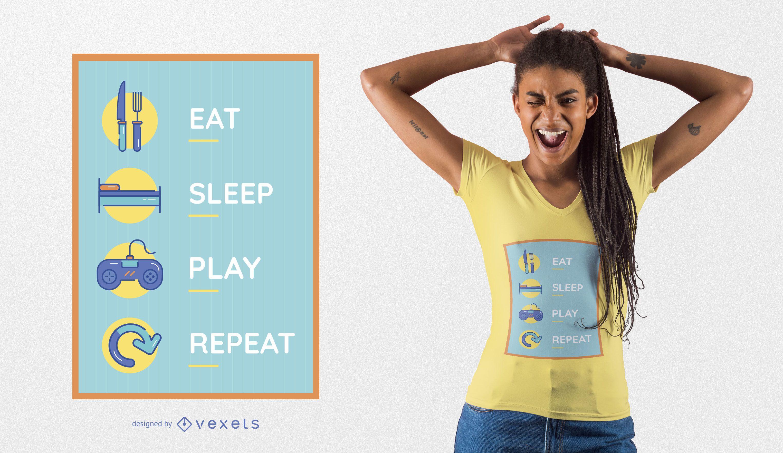Fun Gaming T-shirt Design