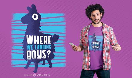 Diseño divertido de la camiseta de la parodia del juego