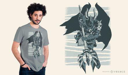 Design escuro do t-shirt do cavaleiro mau