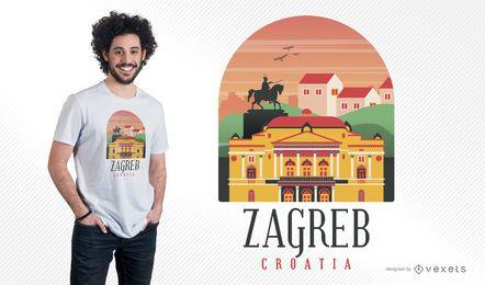 Diseño de camiseta Zagreb Croacia
