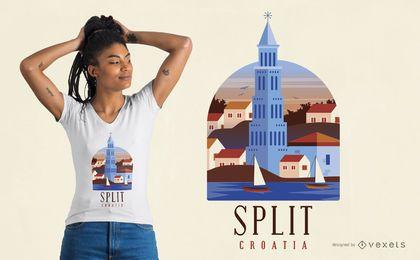 Diseño de camiseta Split Croacia