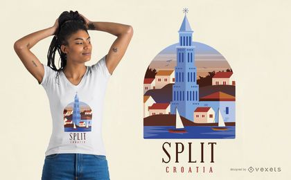 Split Croatia T-shirt Design