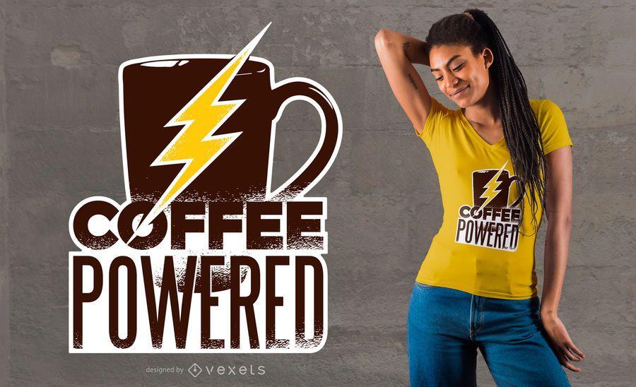 Diseño de camiseta de café